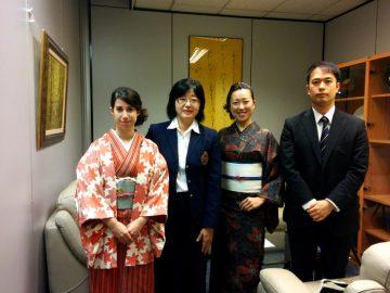 Reunión en el consulado japonés