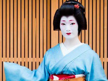 Disfrazarse de geisha para Carnaval