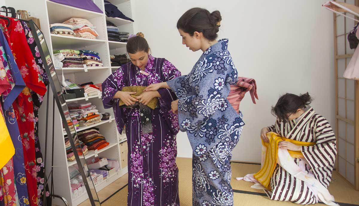 curso vestir kimono