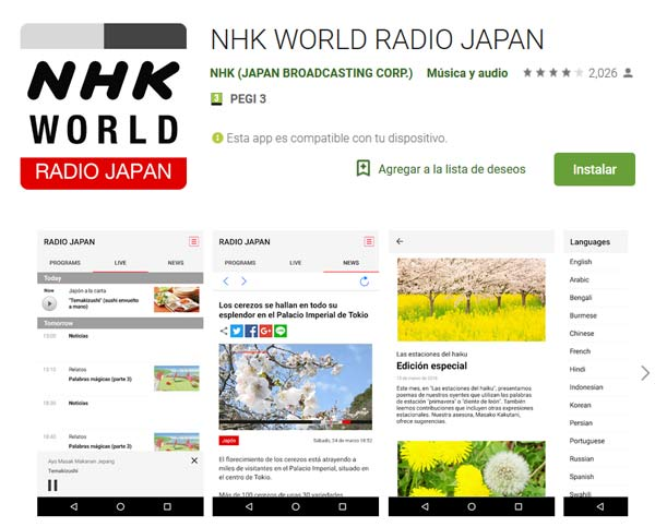 app de NHK world