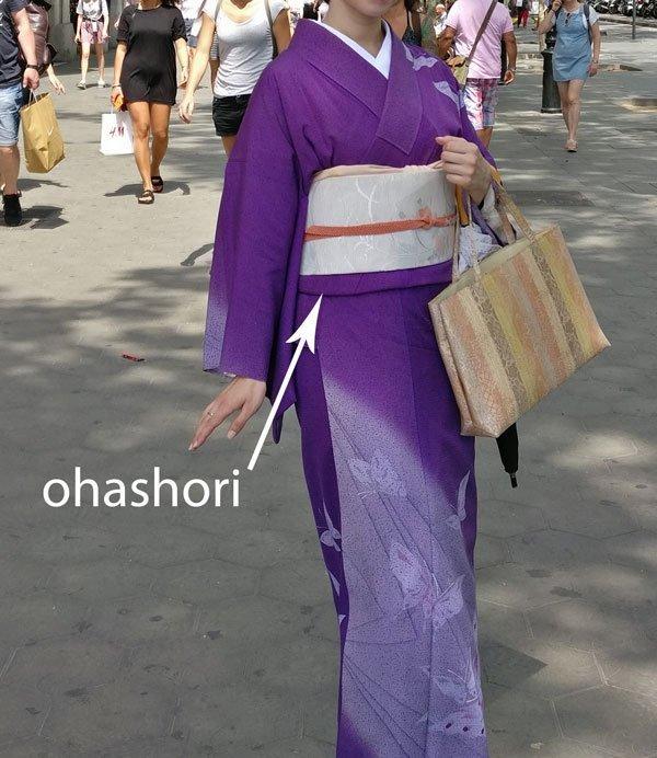 ohashori la doblez del kimono
