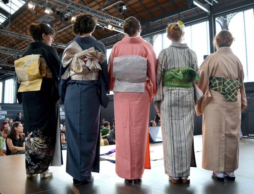 exhibición de kimono
